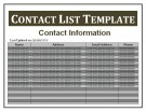 phone contact list template .